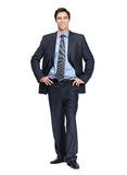Business standing confidently against white Royalty Free Stock Photo