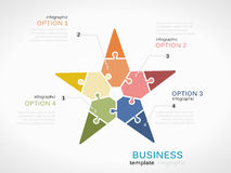 Business star presentation Stock Photos