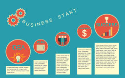 Business start infographics template. Stock Image