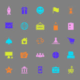 Business start up color icons on gray background Stock Images
