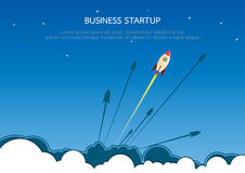 Business start up concept. Rocket style in flat design.Vector illustration Royalty Free Stock Photos