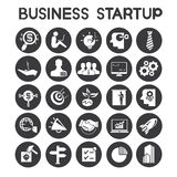 Business start up icons. Set of 25 business start up icons Stock Images