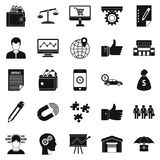 Business start up icons set, simple style Royalty Free Stock Images