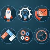 Business start up rocket idea Stock Images