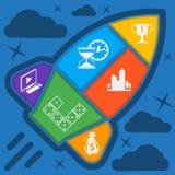 Business start up rocket idea Stock Image