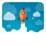 Business Start-Up Rocket Royalty Free Stock Image
