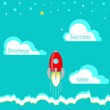 Business start up Stages idea strategy and success Vector Royalty Free Stock Images