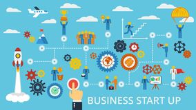 Business start up template. Vector. Stock Photography
