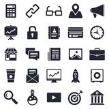 Business and Startup Icon Set Stock Image
