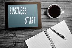 Business Start words Royalty Free Stock Images