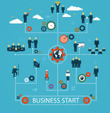 Business start, workforce, team working, business people in moti Stock Images