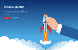 Business Startup Banner Concept Royalty Free Stock Photos