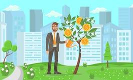 Business Startup Concept. Vector Flat Illustration stock illustration