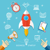 Business Startup Concept. Vector Royalty Free Stock Photography