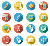 Business and Startup Flat Icons Set. Business and Startup concepts flat icons set Stock Photo