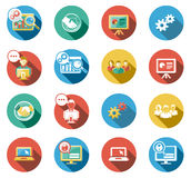 Business and Startup Flat Icons Set. Business and Startup concepts flat icons set Stock Photos
