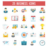 Business startup flat icons set Royalty Free Stock Images