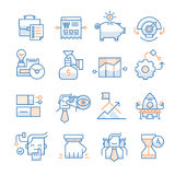Business Startup Icons Collection Stock Image