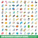 100 business startup icons set, isometric 3d style. 100 business startup icons set in isometric 3d style for any design illustration royalty free illustration