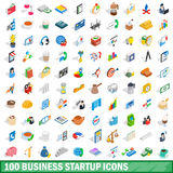 100 business startup icons set, isometric 3d style Stock Photography