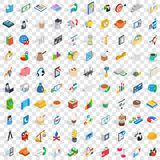 100 business startup icons set, isometric 3d style Royalty Free Stock Photography