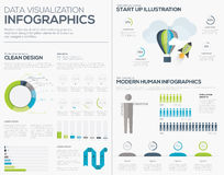 Business startup infographic vector illustration collection set Royalty Free Stock Photos