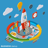 Business startup, innovation vector concept Royalty Free Stock Images