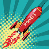 Business startup rocket Royalty Free Stock Images