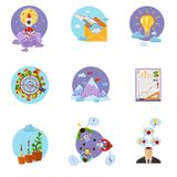 Business Startup Set. Business startup creative idea money investment decorative icons set isolated vector illustration Stock Photography