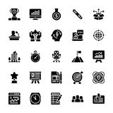 Startup and New Business Glyph Vector Set. For business startup there must be a killer idea, ton of research about target audience and market fit, start building Royalty Free Stock Photos