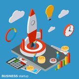 Business startup vector concept Royalty Free Stock Image