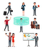 Business startup work. Virtual reality technology and business. Stock Images