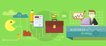 Business stategy concept royalty free illustration