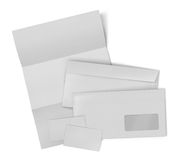 Business stationary set. envelope, sheet of paper and business c Royalty Free Stock Image