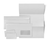 Business stationary set. envelope, sheet of paper and business c Royalty Free Stock Images