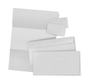 Business stationary set. envelope, sheet of paper and business c Stock Photos