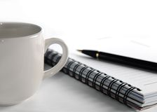 Business stationery and a cup Stock Photo