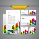 Business Stationery Template. Complete set of business stationery template such as letterhead, business cards, envelope, CD cover, etc Stock Photo