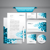 Business Stationery Template. Complete set of business stationery template such as letterhead, business cards, envelope, CD cover, etc royalty free illustration