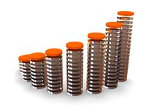 Business statistics. Three-dimensional graphic image. 3d business statistics Stock Photo