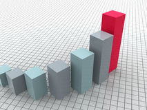 Business statistics. Graphic three-dimensional illustration. 3d business statistics Royalty Free Stock Images