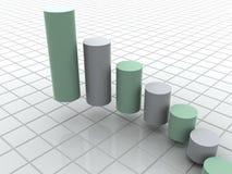 Business statistics. Graphic three-dimensional illustration. 3d business statistics Royalty Free Stock Photo