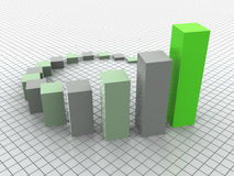 Business statistics. The graphic three-dimensional image. 3d business statistics Royalty Free Stock Photos