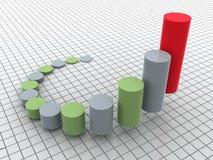 Business statistics. Three-dimensional graphic representation. 3d business statistics Stock Photography