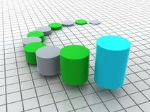 Business statistics. Three-dimensional graphic representation. 3d business statistics Royalty Free Stock Photo