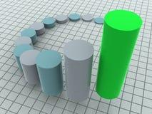 Business statistics. Three-dimensional graphic illustration. 3d business statistics Royalty Free Stock Photos