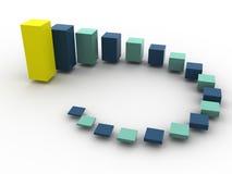 Business statistics. Beautiful graphic image. 3d business statistics Royalty Free Stock Photo