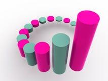 Business statistics. Beautiful graphic image. 3d business statistics Stock Photo