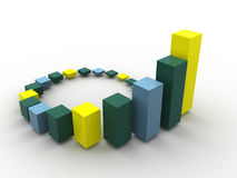Business statistics. 3d business statistics. Beautiful graphic image Royalty Free Stock Image