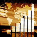 Business statistics. Graph made in 3d with lighting effects Stock Images